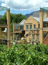 Exterior view, Franschhoek Country House & Villas, Franschoek in the Cape Wine Lands