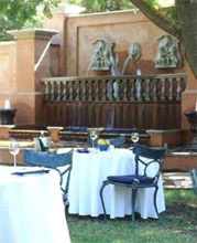 Lunch Outside, Franschhoek Country House & Villas, Franschoek in the Cape Wine Lands