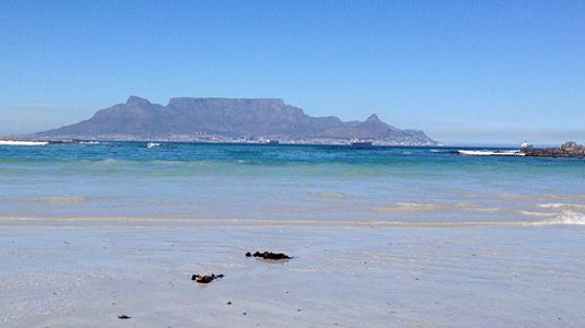 Cape Town - Table Mountain - Bloubergstrand